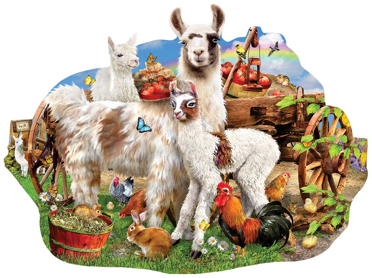 Llama Farm Animals Shaped Puzzle