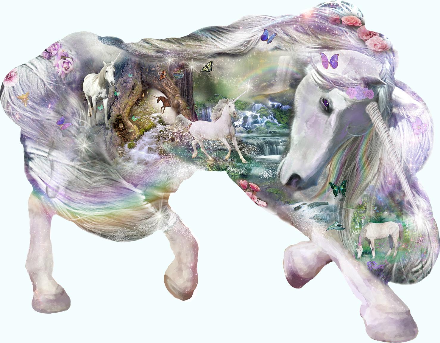 Mystical Unicorn Unicorns Shaped Puzzle
