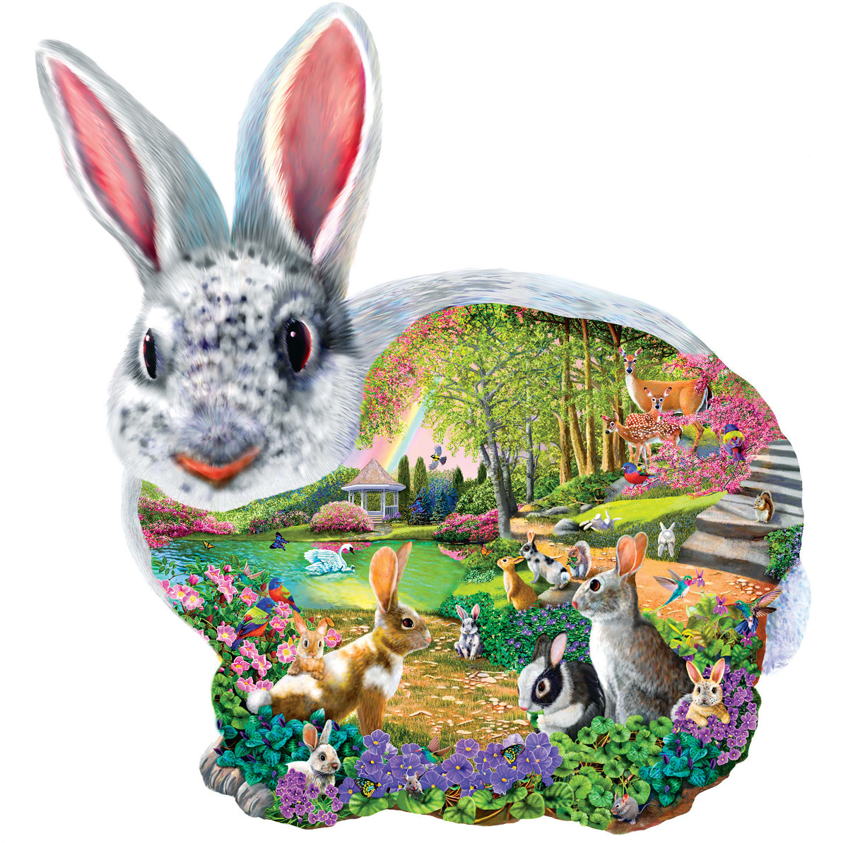 Bunny Hollow Animals Shaped Puzzle