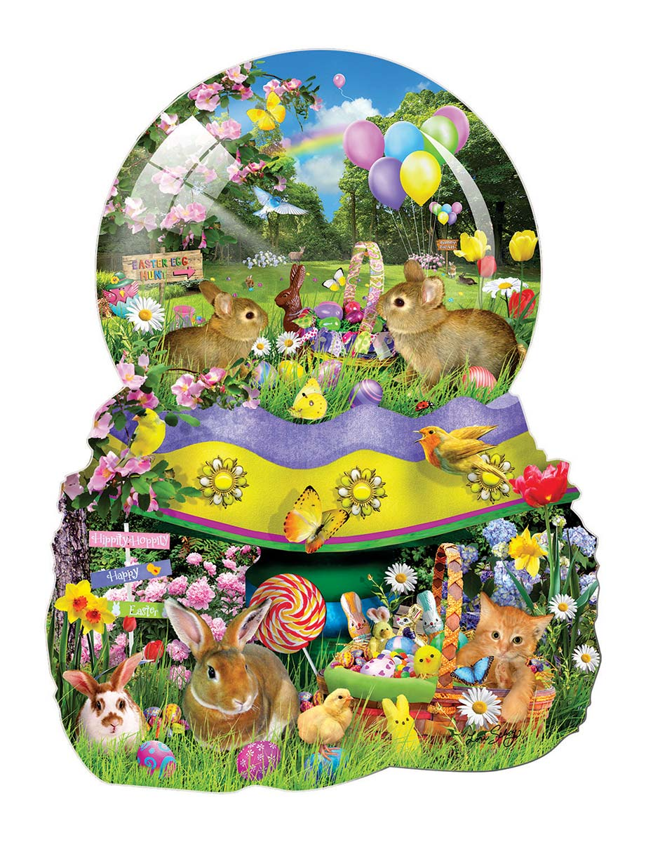 Easter Globe Easter Shaped Puzzle