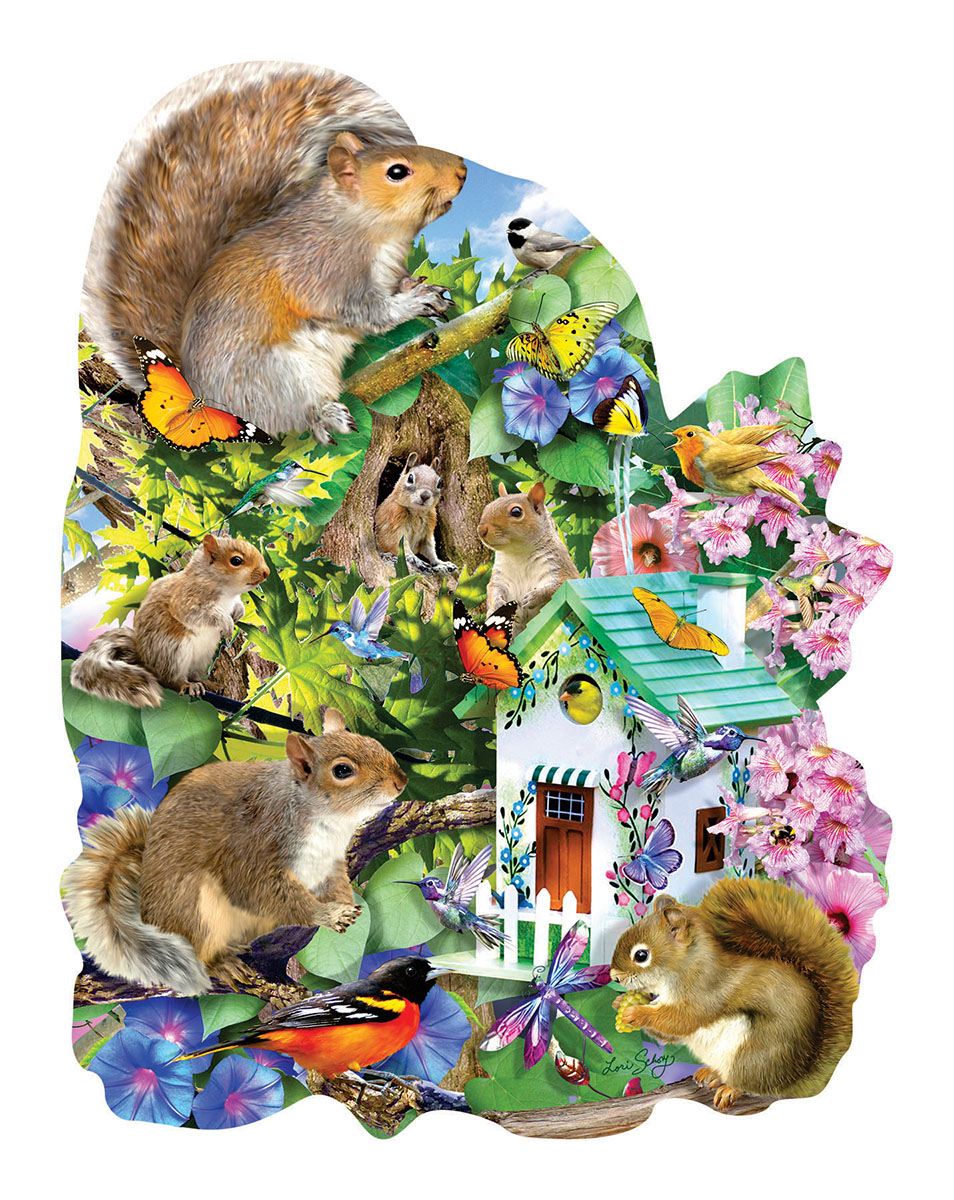 Something Squirrelly Animals Shaped Puzzle