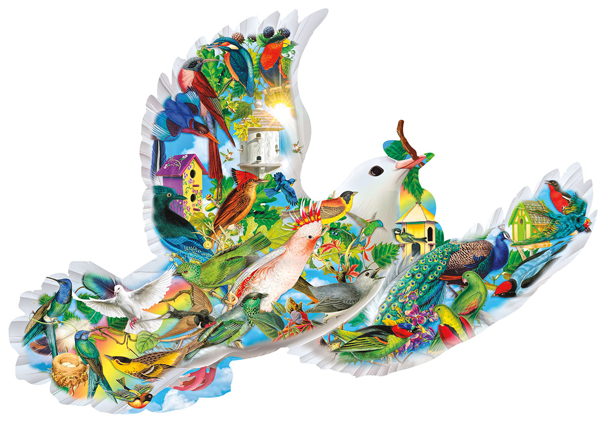 Feathered Friends Birds Shaped Puzzle