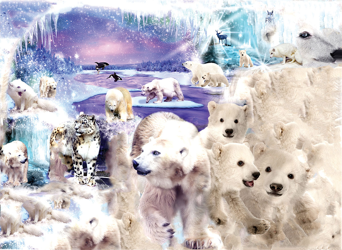 Polar Bear World Winter Shaped Puzzle