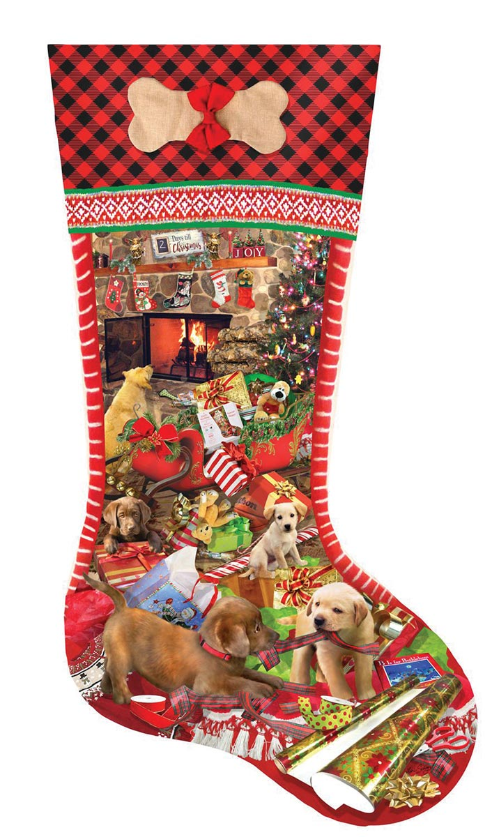Puppy Stocking Dogs Jigsaw Puzzle