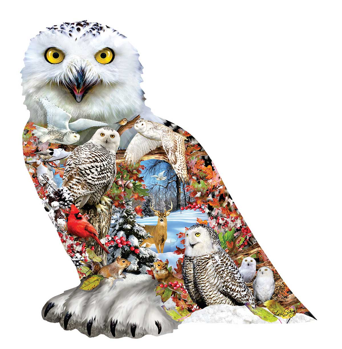 Snowy Owl Birds Shaped Puzzle