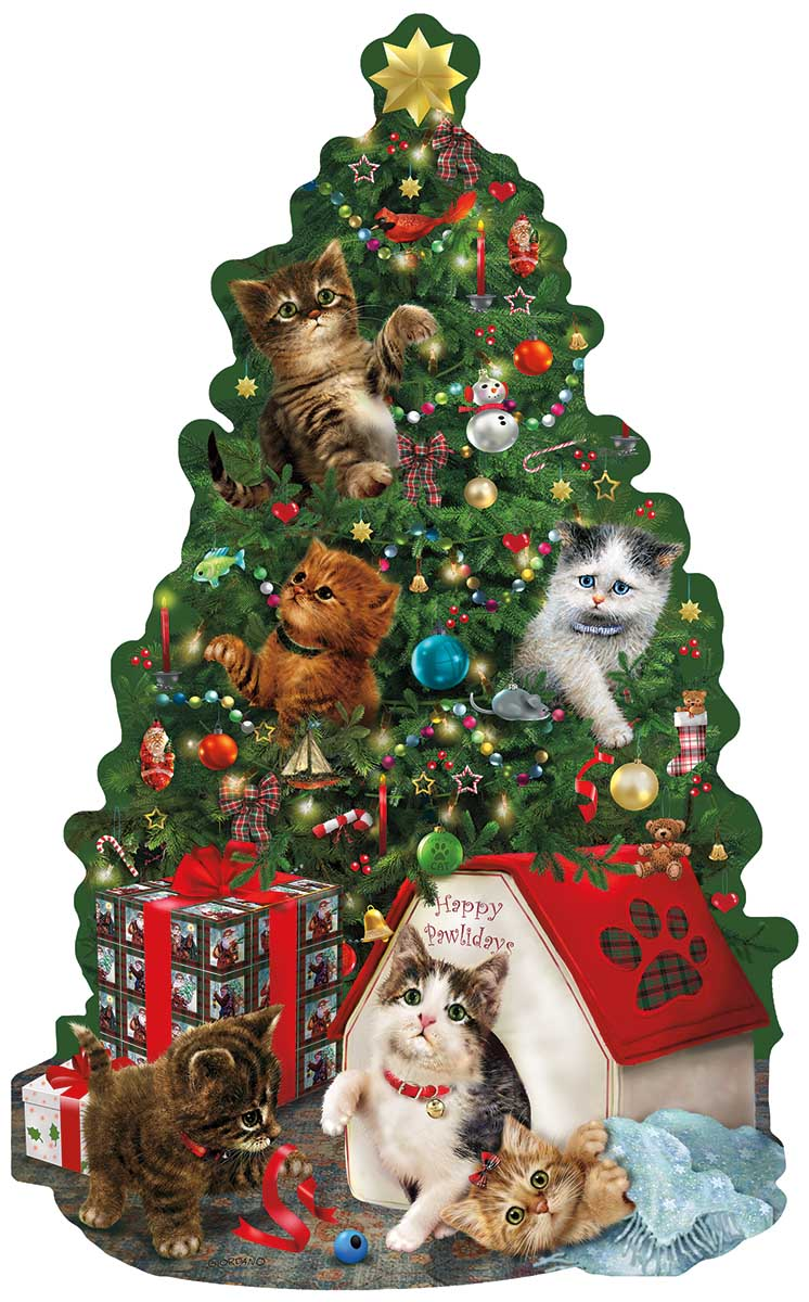 Kitty Cat Playground Cats Shaped Puzzle