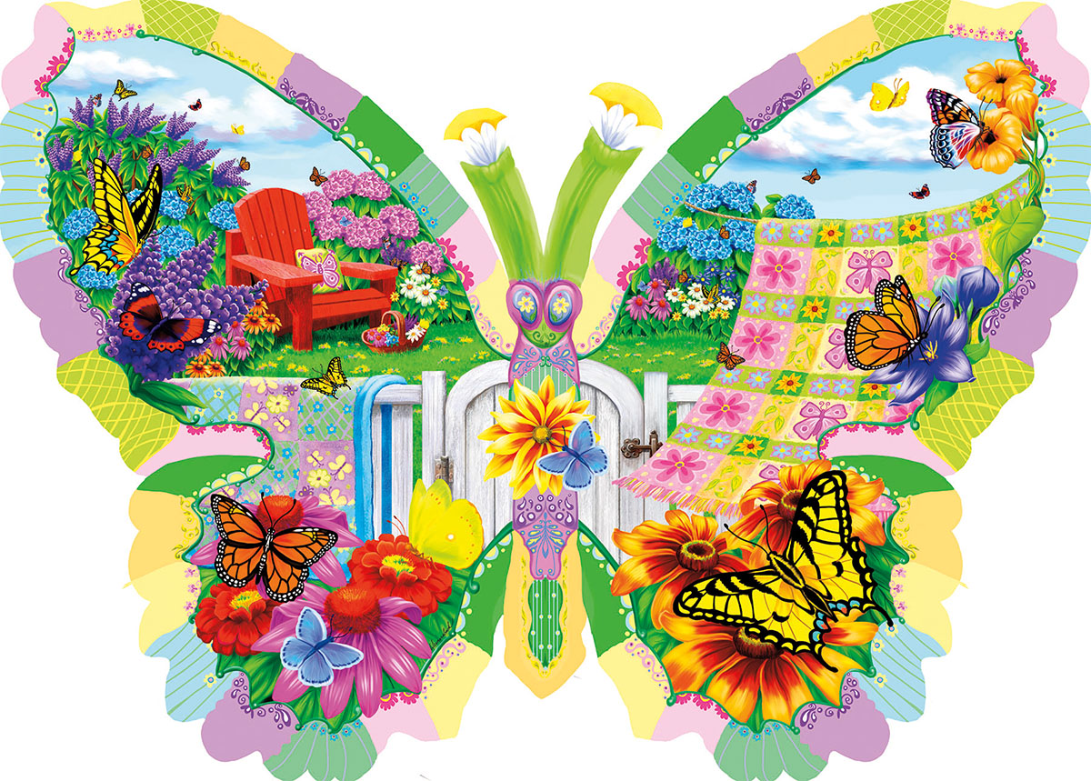 Butterfly Summer - Scratch and Dent Butterflies and Insects Shaped Puzzle