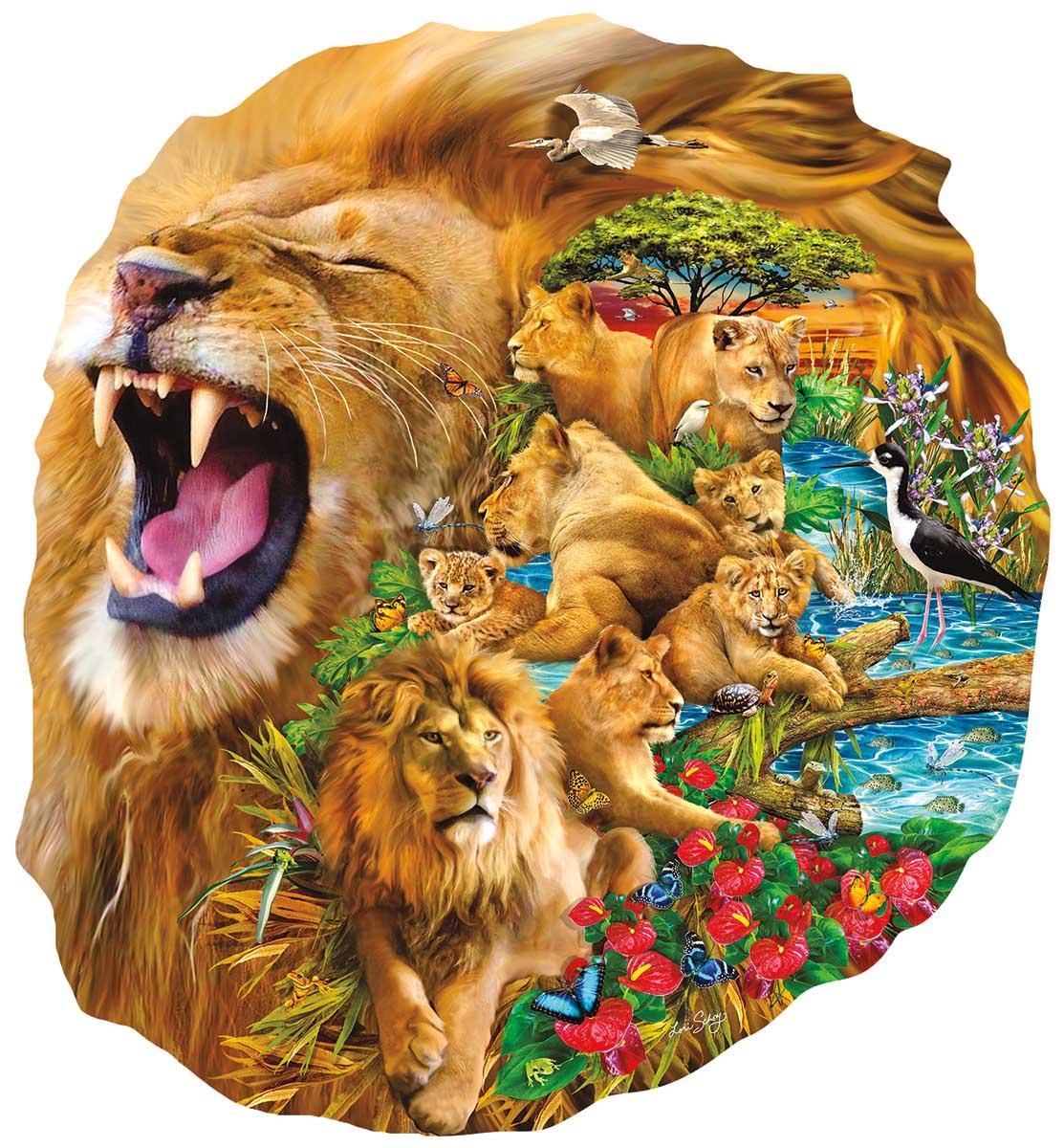 Lion Family Lions Shaped Puzzle