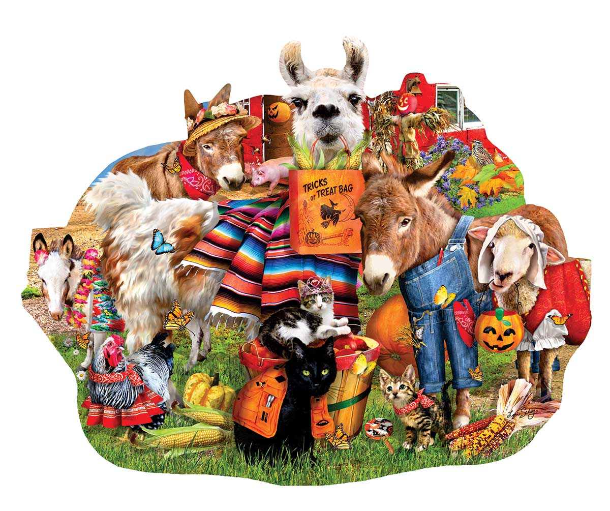 Halloween Farm Style Farm Shaped Puzzle