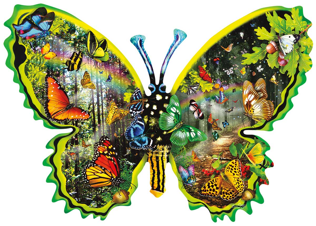 Butterfly Migration Butterflies and Insects Shaped Puzzle