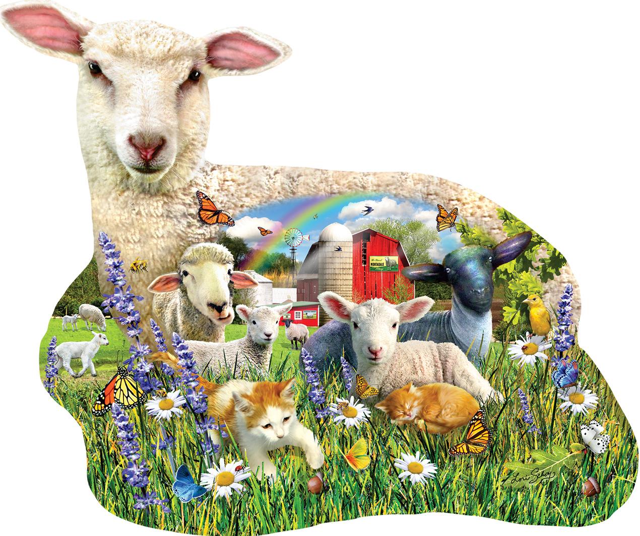 Lamb Shop Animals Shaped Puzzle