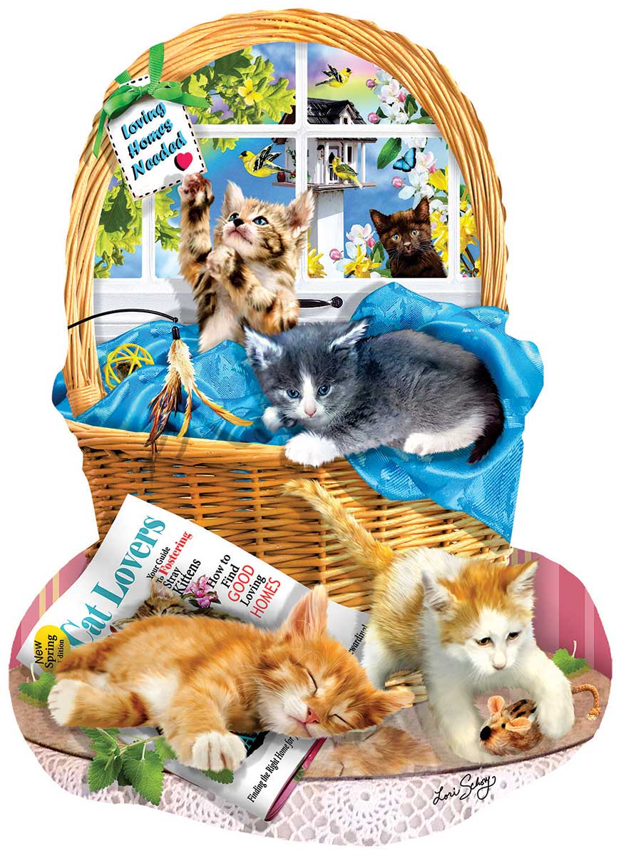 Free Kitties Cats Shaped Puzzle