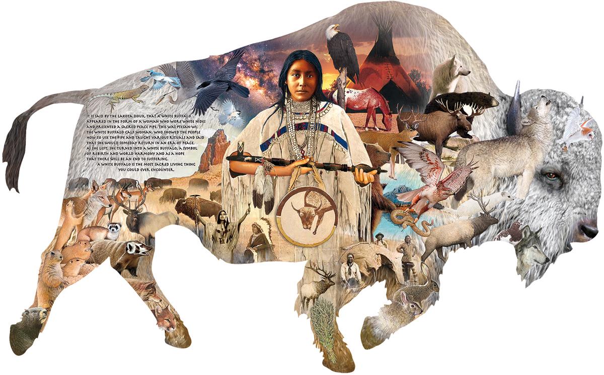 The White Buffalo Animals Shaped Puzzle