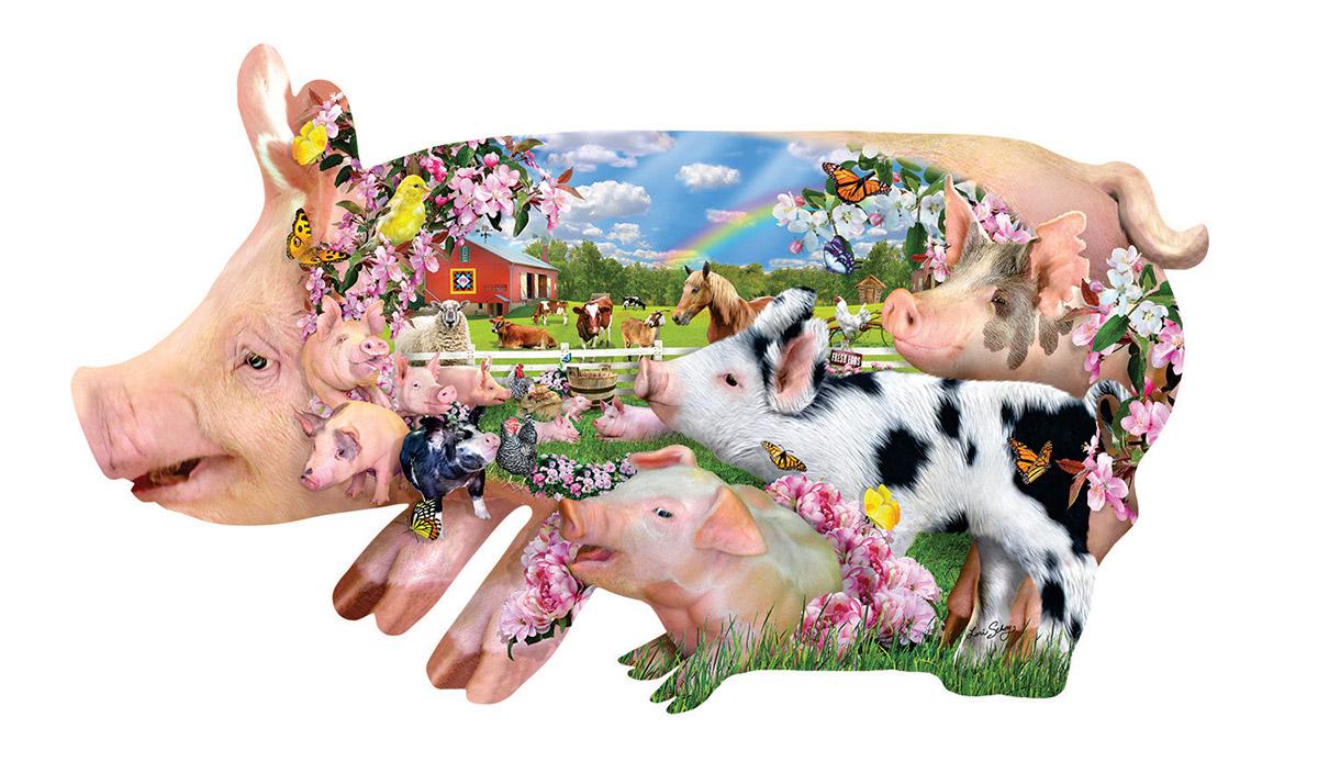 Pig Farm Farm Animals Shaped Puzzle