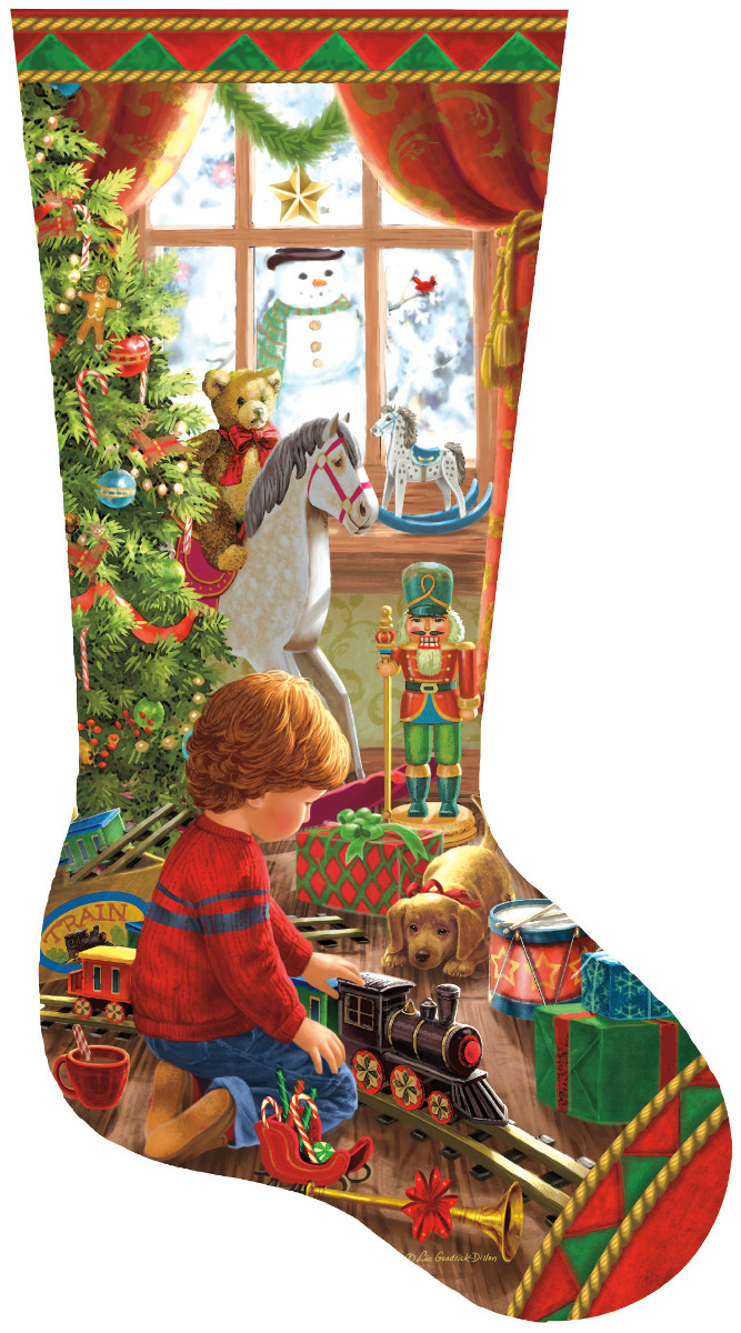 A Boy's Stocking Christmas Shaped Puzzle