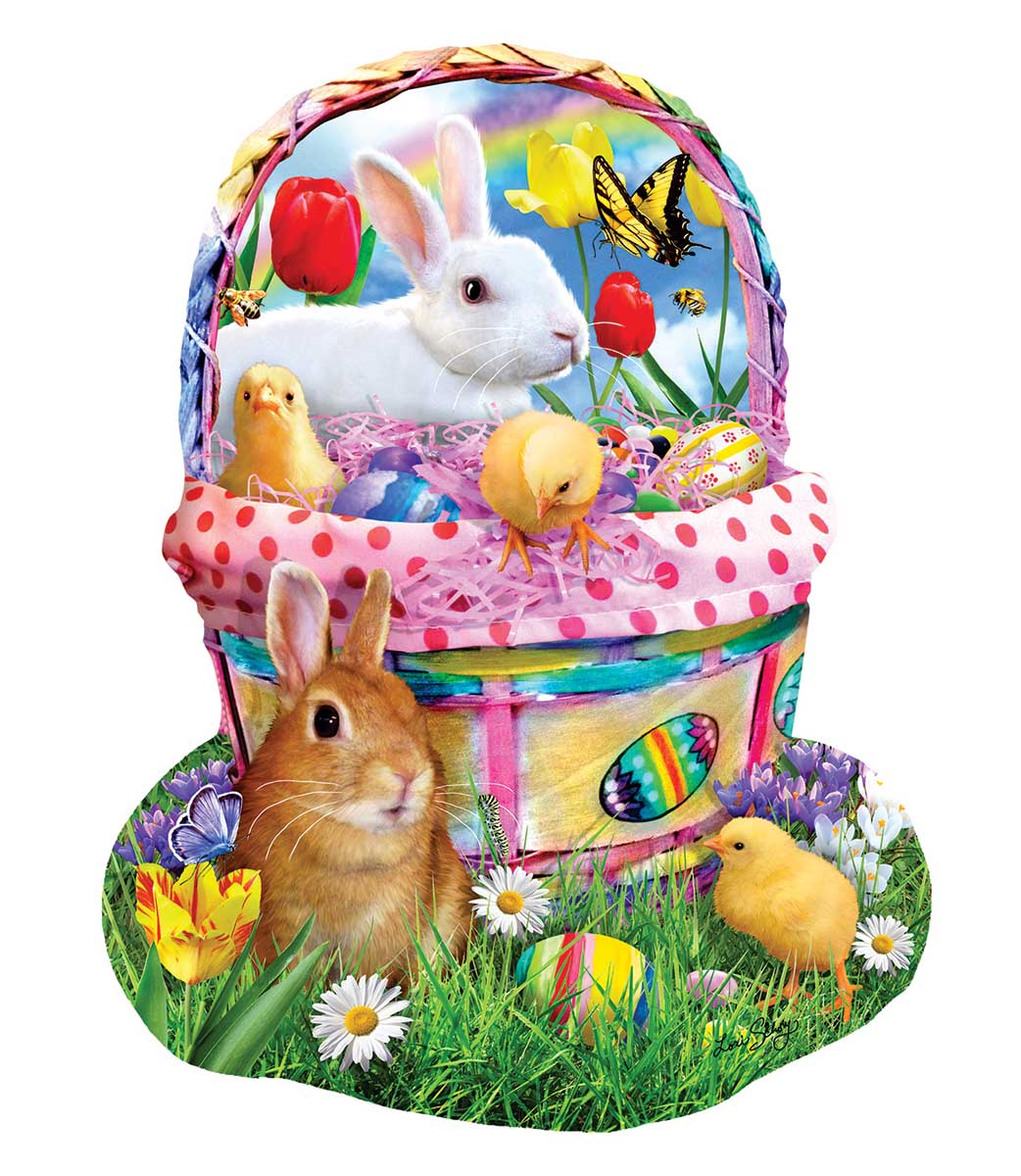Bunny's Easter Basket Animals Shaped Puzzle