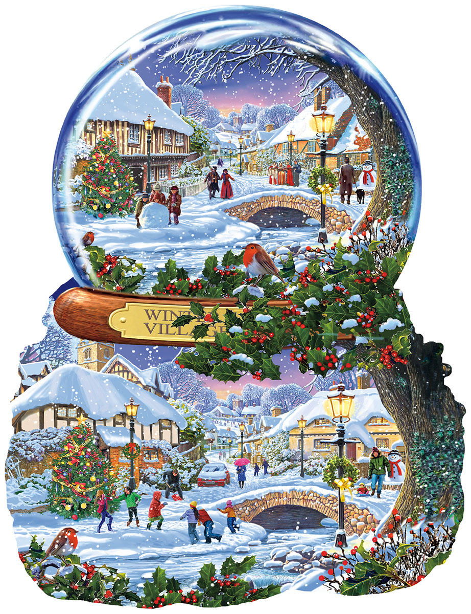 Winter Village Christmas Shaped Puzzle