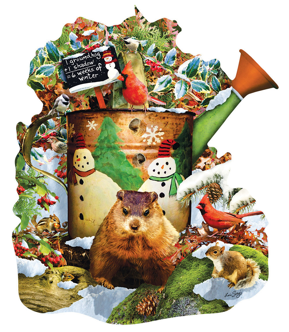 Groundhog Day Animals Shaped Puzzle
