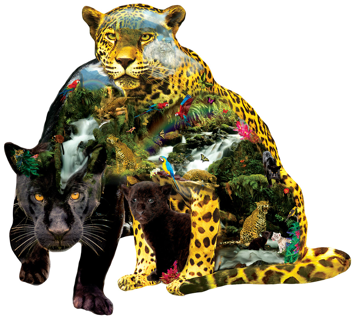 Black Beauty Jungle Animals Shaped Puzzle