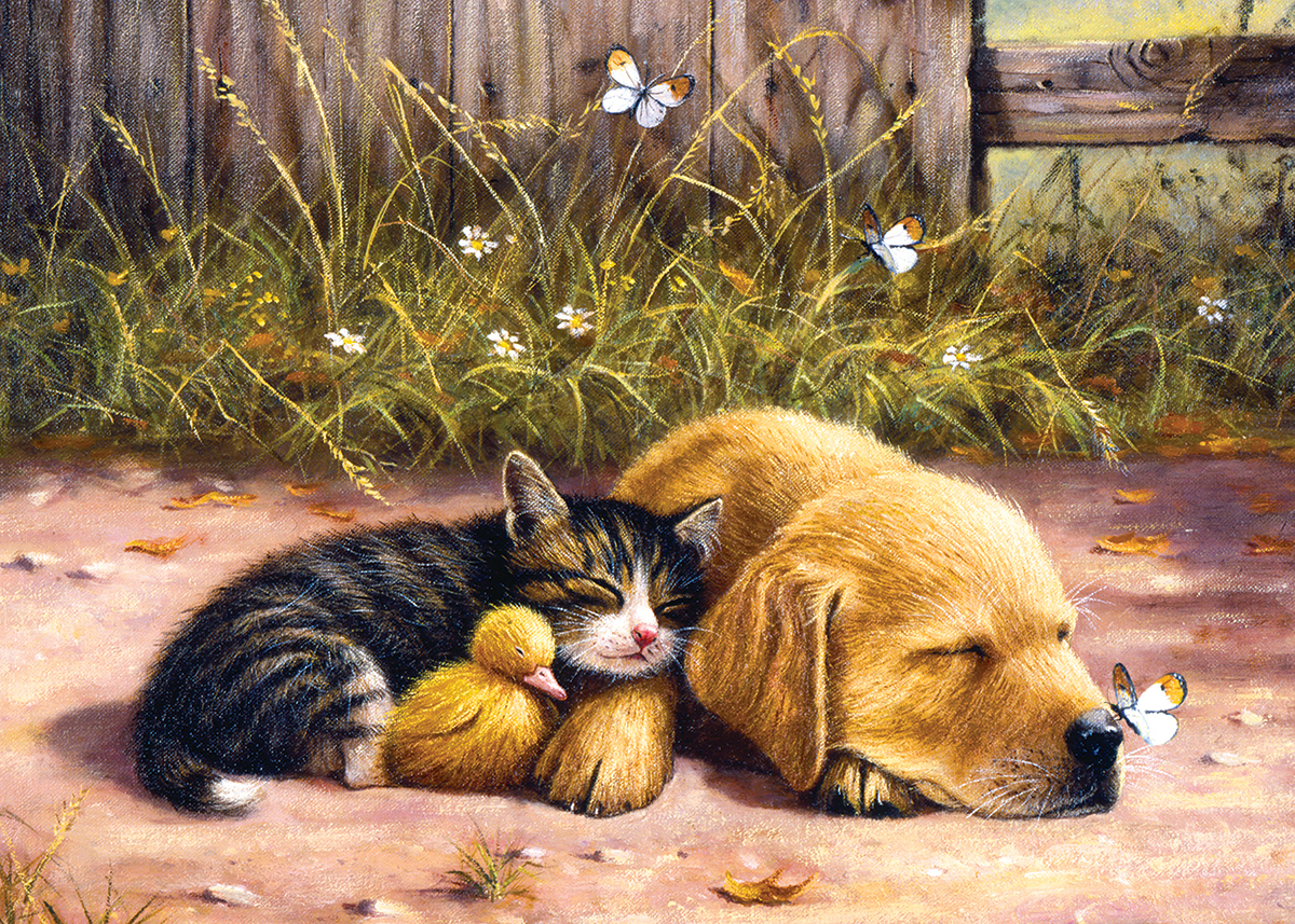 Sleepy Days Animals Jigsaw Puzzle