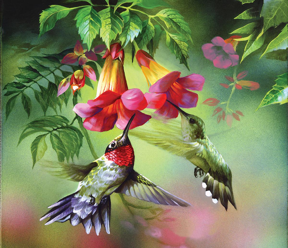 Hummingbirds Dementia / Alzheimer's Jigsaw Puzzle