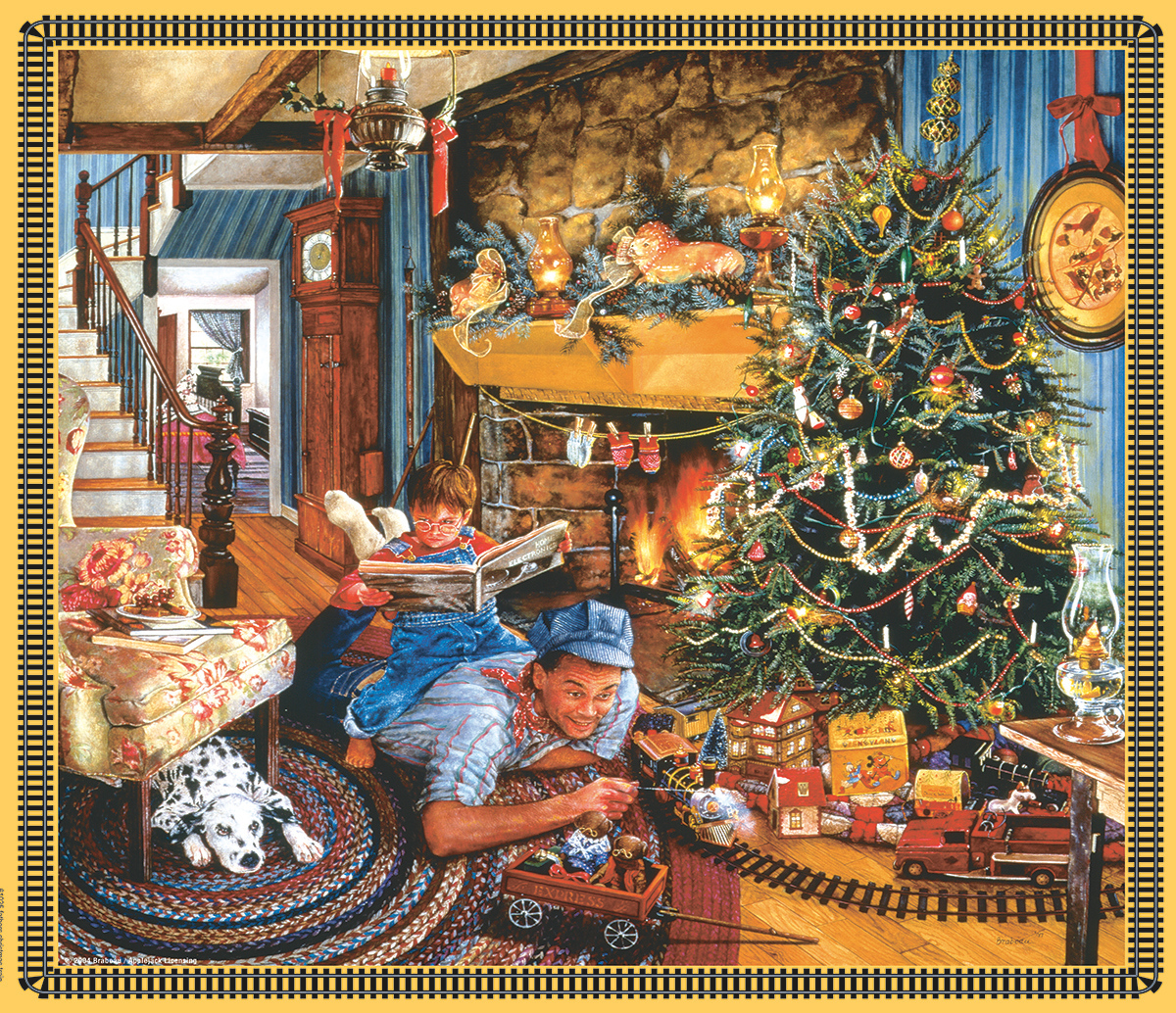 Christmas Train - Scratch and Dent Christmas Jigsaw Puzzle