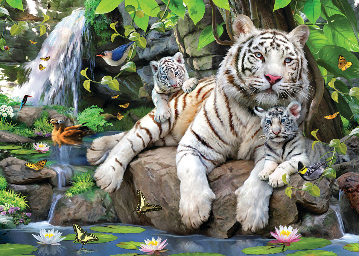 White Tigers Dementia / Alzheimer's Jigsaw Puzzle