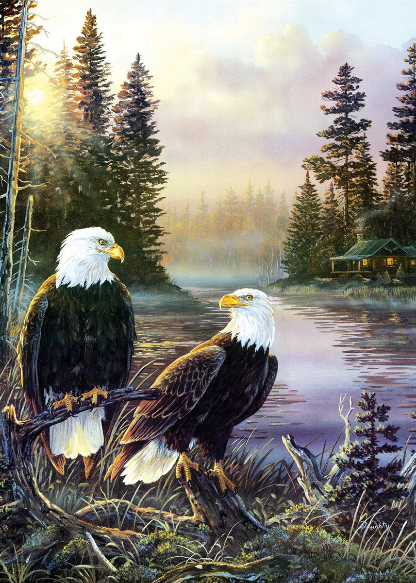 Cabin Days Eagles Jigsaw Puzzle