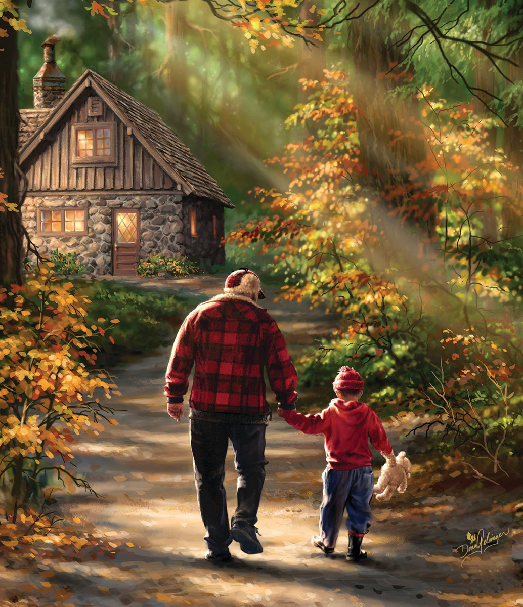 Path to the Cabin Father's Day Jigsaw Puzzle