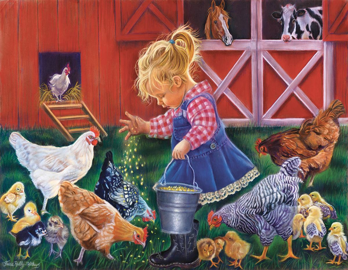 Farmer's Helper Farm Jigsaw Puzzle