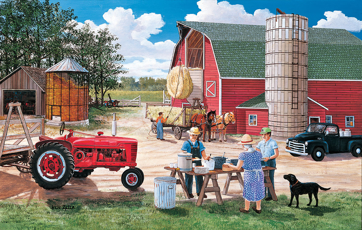 Lunchtime on the Farm Farm Jigsaw Puzzle