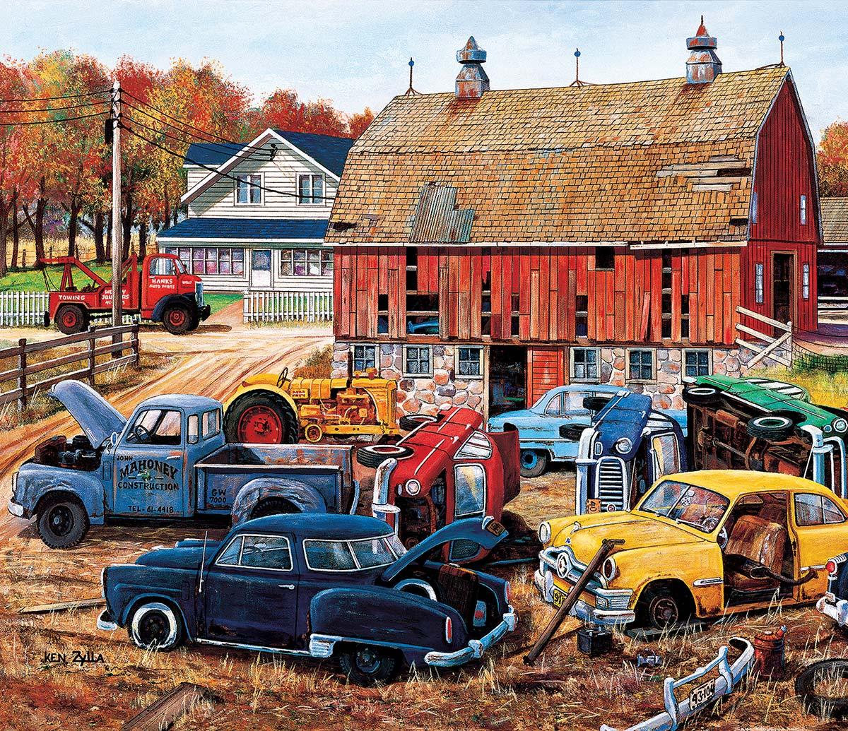 Barnyard Treasures Farm Jigsaw Puzzle