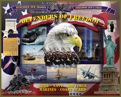 Defenders of Freedom Fourth of July Jigsaw Puzzle