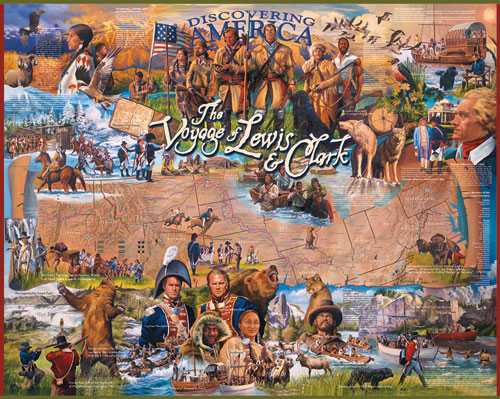 The Voyage of Lewis and Clark Educational Jigsaw Puzzle