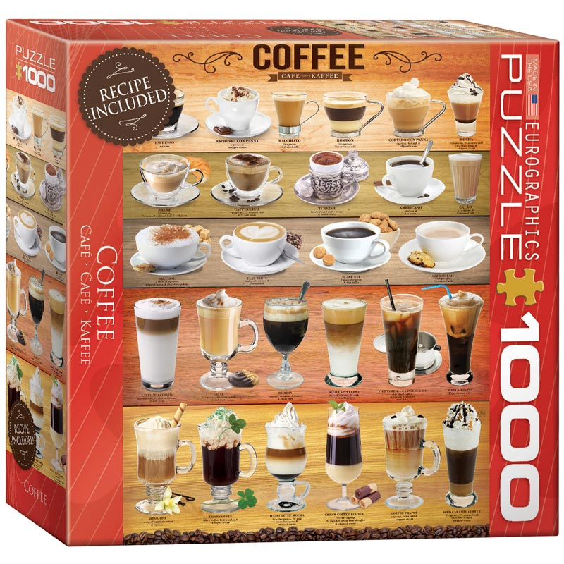 Coffee jigsaw puzzle for Cuisine 8000 euros
