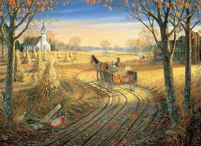 Harvest Time (Small box) Countryside Jigsaw Puzzle