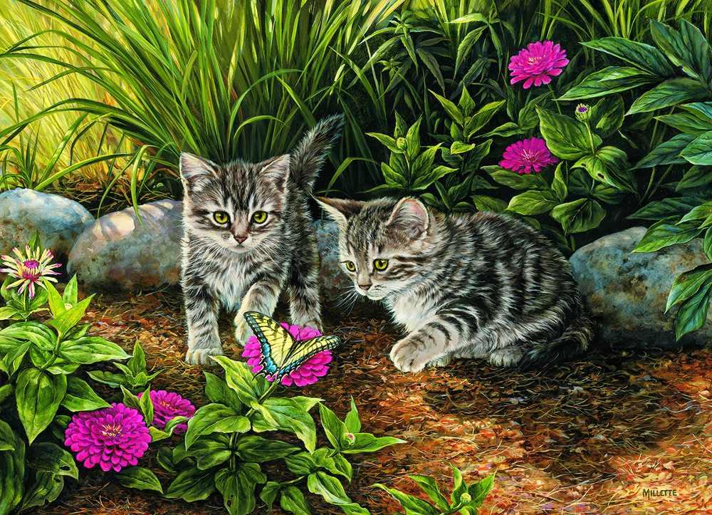 Double Trouble Cats Jigsaw Puzzle