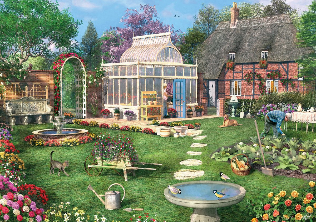 The Conservatory Jigsaw Puzzle Puzzlewarehouse Com