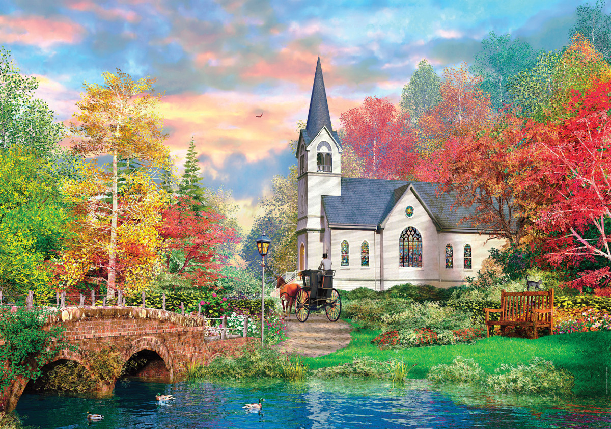 Colorful Autumn Hqc Jigsaw Puzzle Puzzlewarehouse Com