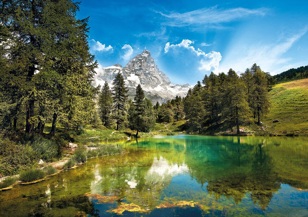 Blue Lake Landscape Jigsaw Puzzle