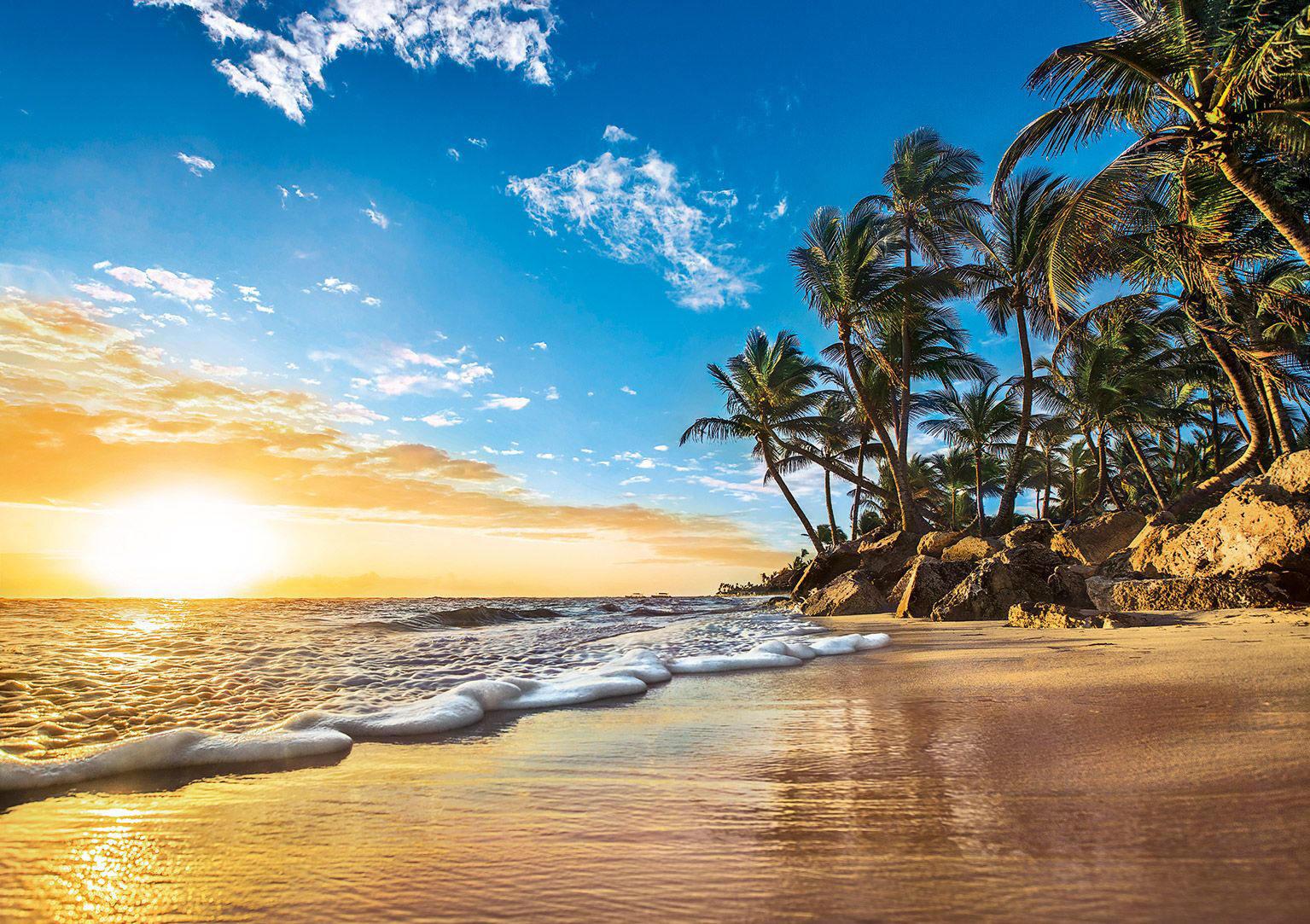 Tropical Sunrise Beach Jigsaw Puzzle