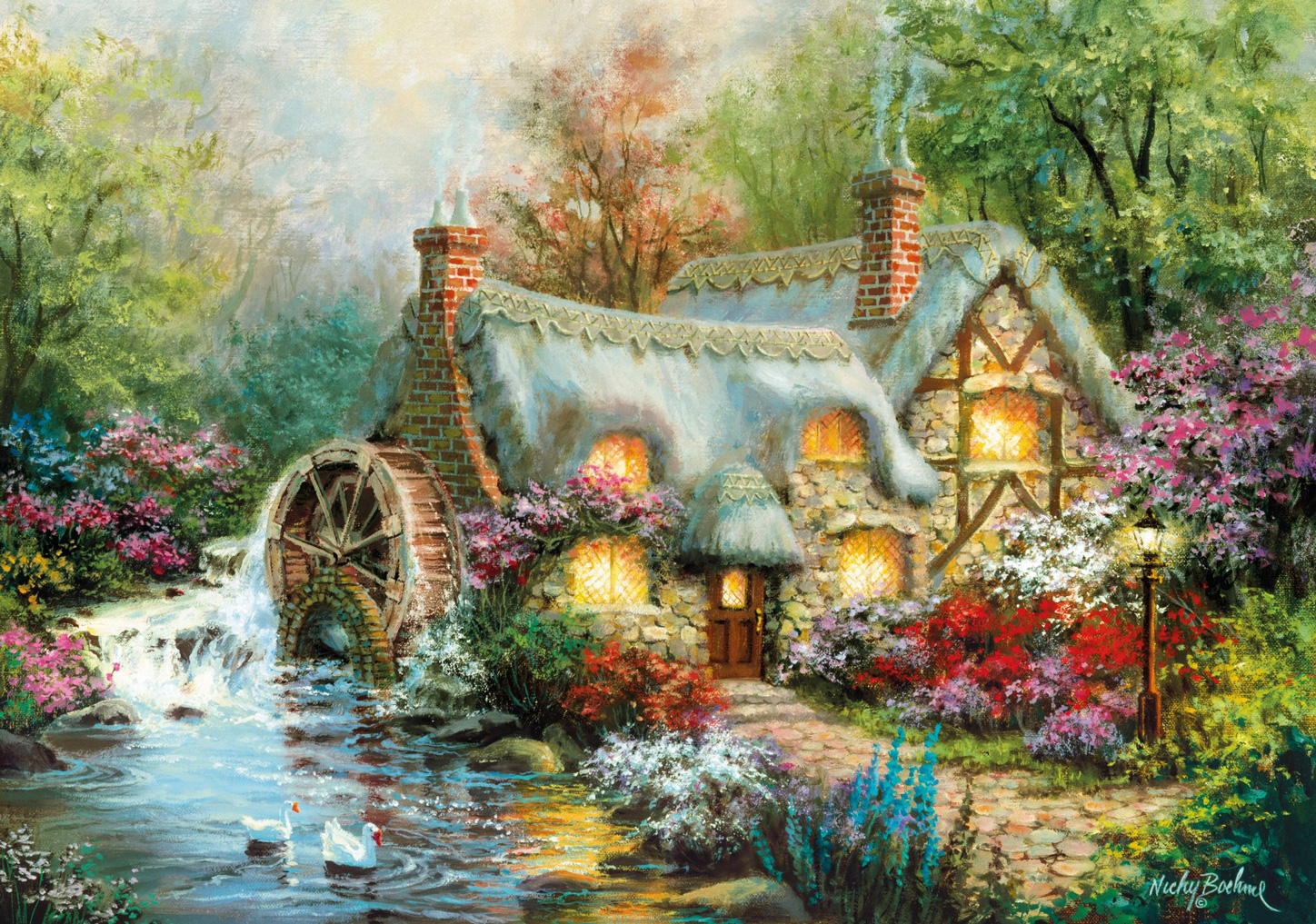 Country Retreat - Scratch and Dent Countryside Jigsaw Puzzle