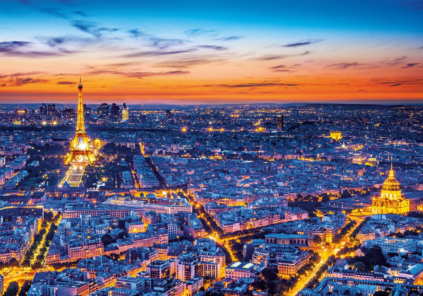 Paris View Skyline / Cityscape Jigsaw Puzzle
