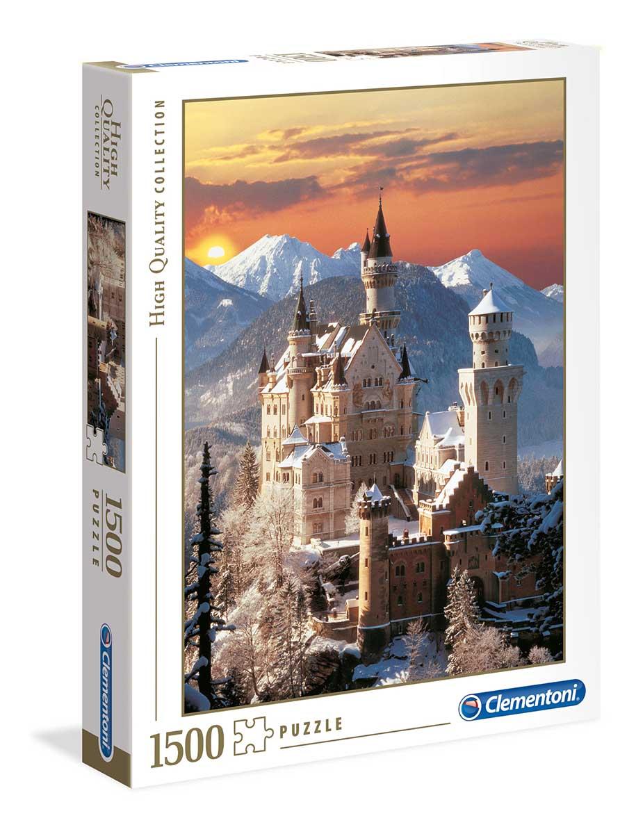 Neuschwanstein (winter) Castles Jigsaw Puzzle