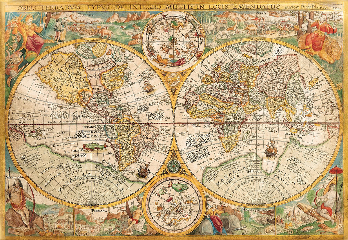 Ancient Map - Scratch and Dent Maps / Geography Jigsaw Puzzle