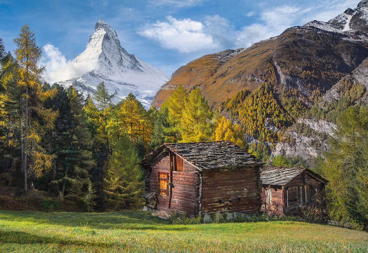 Fascination with Matterhorn Mountains Jigsaw Puzzle