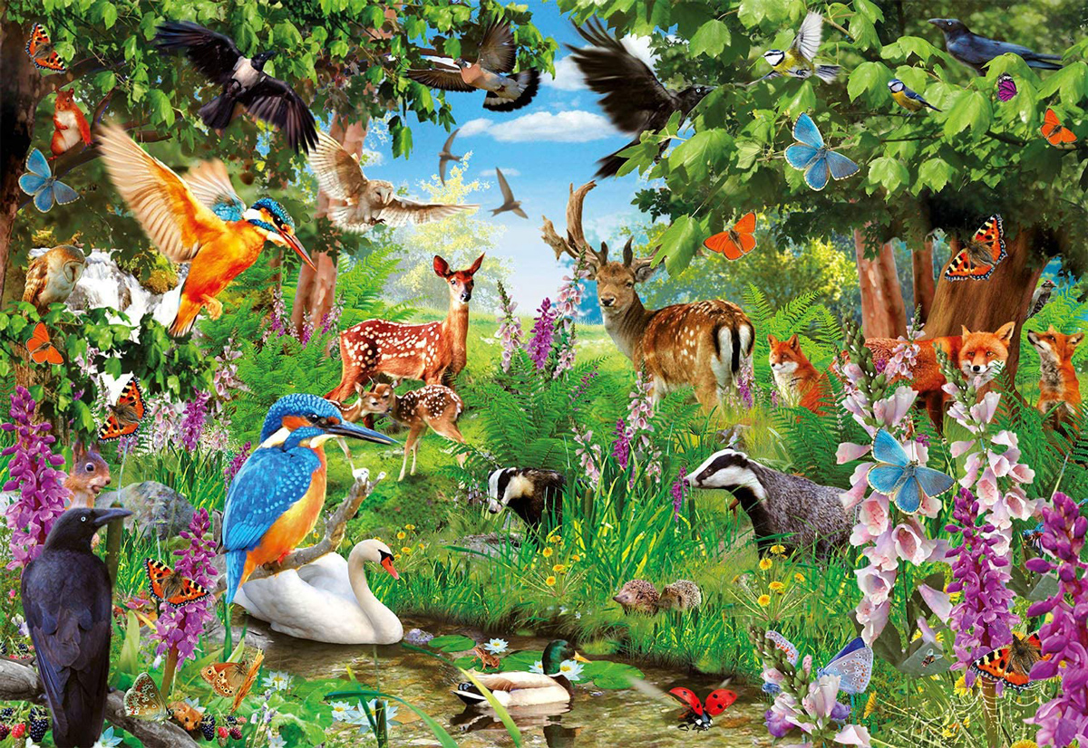 Fantastic Forest Wildlife Jigsaw Puzzle