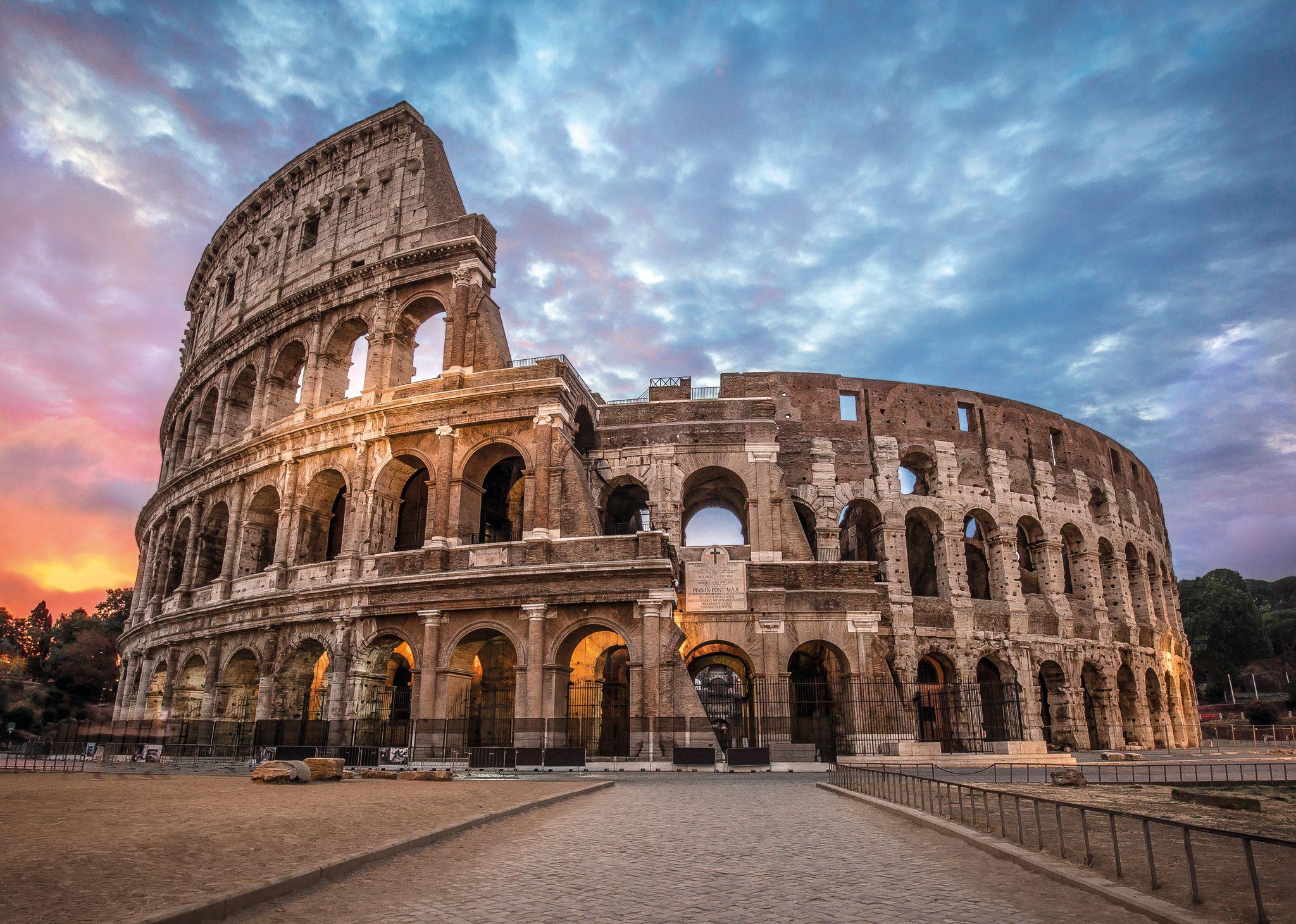 Coliseum Sunrise Europe Jigsaw Puzzle