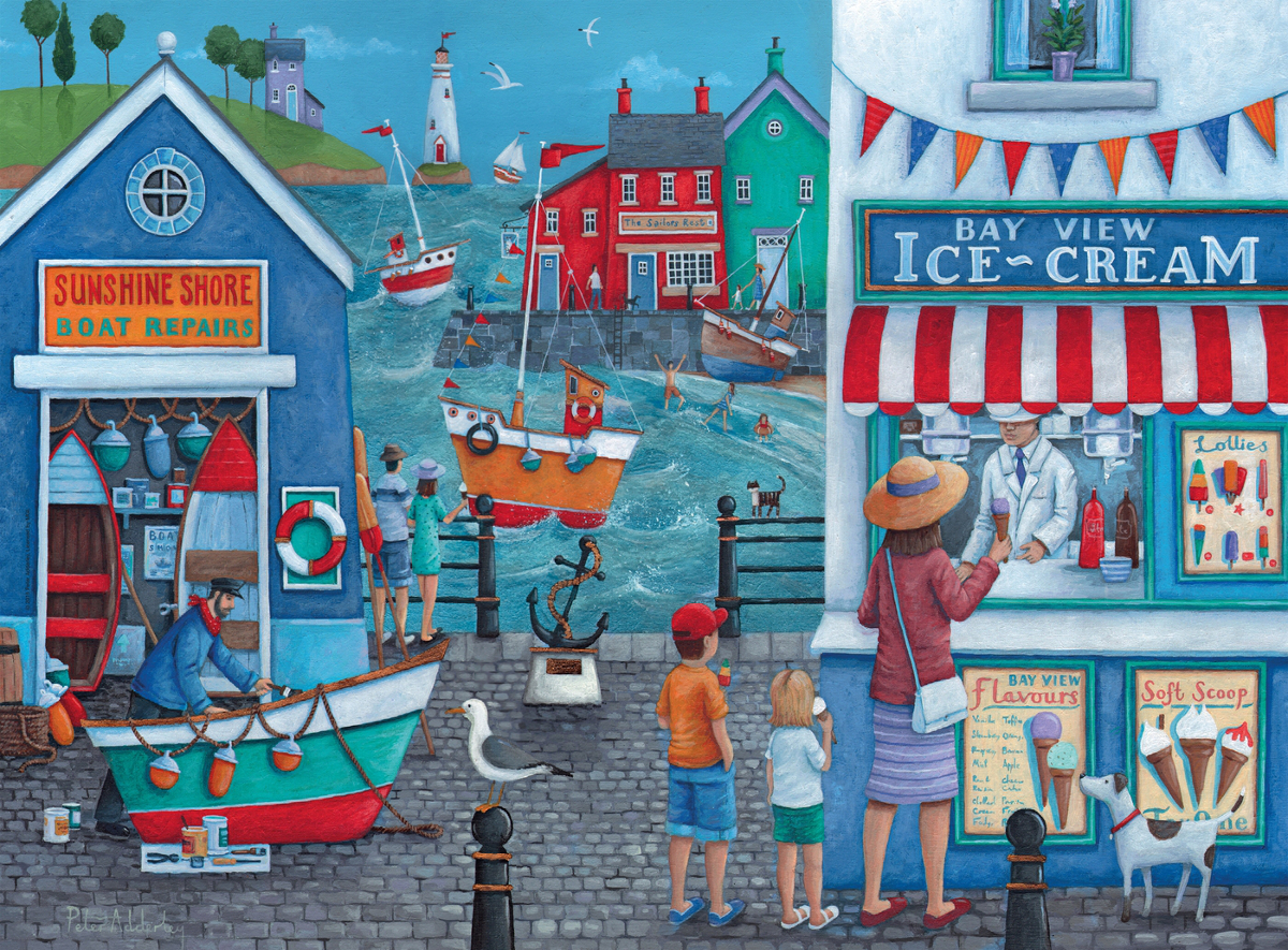 Ice Cream on the Seaside - Scratch and Dent Boats Jigsaw Puzzle