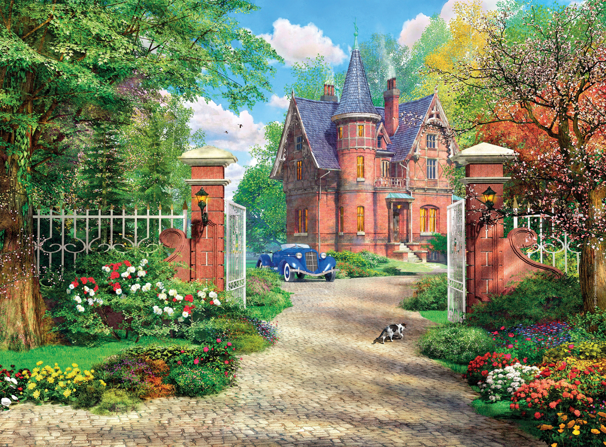 The Red Brick Cottage Jigsaw Puzzle Puzzlewarehouse Com